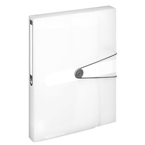 Herlitz 11206174 Sammelbox, A4, PP-Folie, transparent