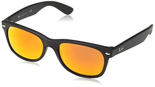 Ray Ban Unisex Sonnenbrille New Wayfarer Gestell: Schwarz, Gläser: Orange Flash 622/69), Large (Herstellergröße: 55)