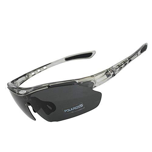 Aeici Sportbrille Polarized Sonnenbrillen Sport Polarisierend Herren Schutzbrille für Brillenträger Grau