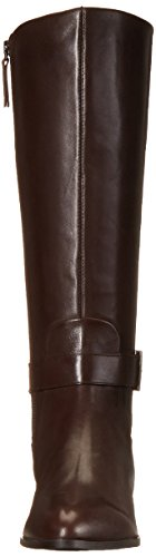 Nine West Diablo cuir mi-haute Boot Dark Brown