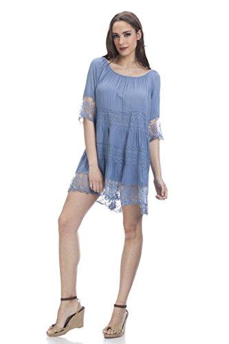 Tantra Damen Kleid, Casual 3146 Blau