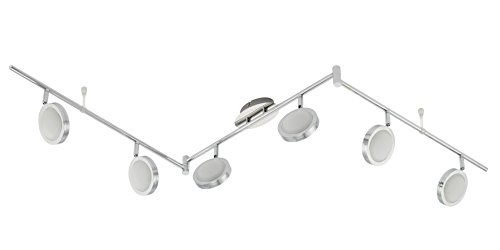 Trango 6-flammig LED Deckenstrahler, Deckenleuchte, Deckenlampe TG2004 inkl. LED Leuchtmittel Strahler schwenk- und drehbar