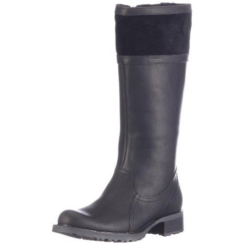 Sebago SARANAC B51656, Stivali donna, colore: Marrone chiaro Nero (Schwarz (black))