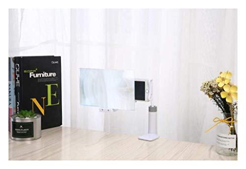 MAGFYLY Handy-Bildschirmlupe for Smartphone, 8-Zoll-Faltlupe mit Halter und Ständer, tragbare Desktop-Hanheld-Lupe, Anzug for Android & iPhone Schwarz/Weiß (Color : White)