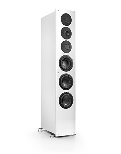 Nubert nuVero 110 Standlautsprecher | Lautsprecher für Musikgenuss | HiFi Qualität auf höchstem Niveau | passive Standbox mit 3 Wege Technik Made in Germany | High End Standlautsprecher Weiß | 1 Stück