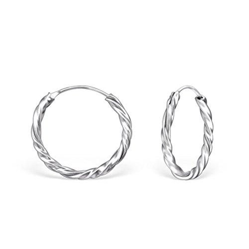 DTP Silver - Pendientes de Aro de Mujer - Espesor 1.8 mm - Diámetro 1