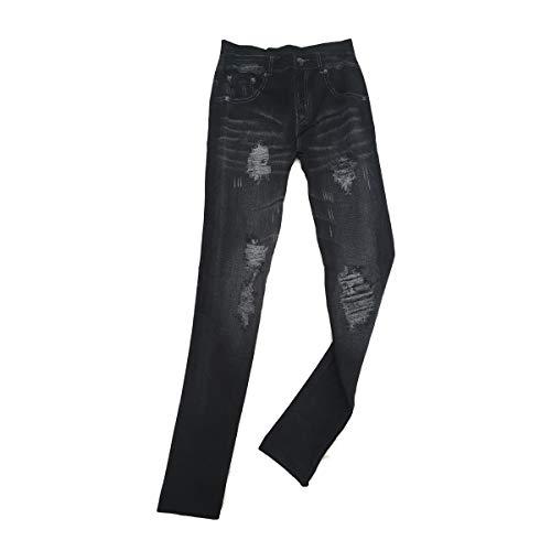 Cisne 2013, S.L. Leggins Jeggins Vaqueros para Mujer diseño Estilo Vintage Color Negro. Talla Única. Pantalones elásticos Ajustables para Mujer diseño Jeans Vintage. Color Negro