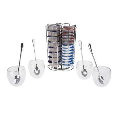 Kapselhalter für T-Disc und E-Pod Kaffee, Kapselhalter, Aufbewahrung, T-Gläser, Gläser drehbar...