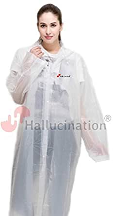 HALLUCINATION Women's PVC Long Full Length Raincoat (48, 5 to 5.4 Ft)