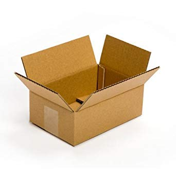 SHRI RAM PACKAGING Corrugated Boxes, 7X4X3.5 Inches, Brown - Pack of 50