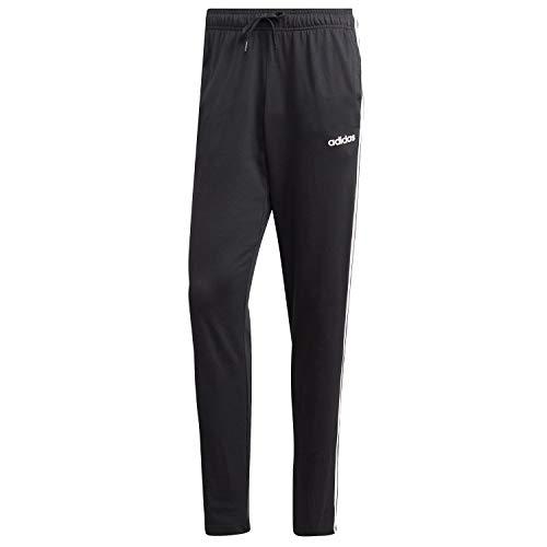 adidas Essentials 3 Stripes Tapered Pant Sj Open Hem Pantaloni Uomo Nero/Bianco M