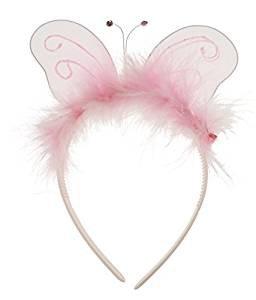 Mädchen Fancy Dress Up Party Fairy Princess Alice Band Stirnband Pink Butterfly, ideal für Kostüme, Verkleidungen, Halloween, Prinzessin Outfit, (Toddler Und Kostüme Halloween Tiara)