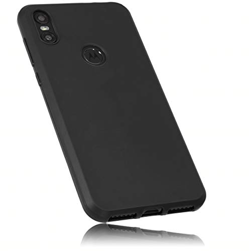 mumbi TPU Hülle kompatibel mit Motorola One, passgenau, schwarz