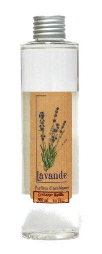 Provence et Nature: Lavendel Raumduft (Nachfüllflasche) für Raumbedufter mit Holzstäbchen, 200 ml