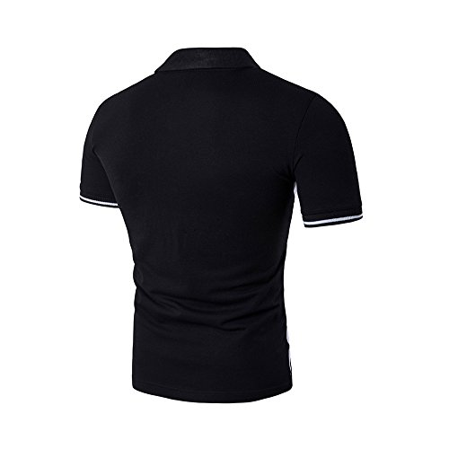 Santfe Herren Poloshirt, Figur Schwarz