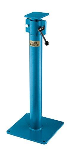 HEUER 117140 Höhenverstellgerät / Stand-Lift | frei im Raum liften und drehen, OHNE Werkbank möglich, bis zu 200 mm stufenlos verstellbar | zulässige Belastung: 10-16 kg, kompatibel Schraubstock 140 mm (Verstellbarer Schraubstock)
