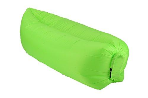Wasserdichtes aufblasbares Sofa mit integriertem Kissen Air Sofa, tragbarer aufblasbarer Sitzsack, Aufblasbare Couch, aufblasbares Outdoor-Sofa für Camping Wander, Park, Strand, Hinterhof,Schwimmbad- und Strandparties Hellgrün
