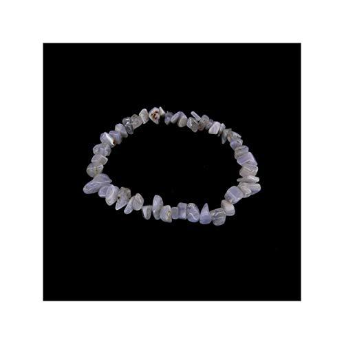 Mineral import braccialetto in chips di calcedonio blu