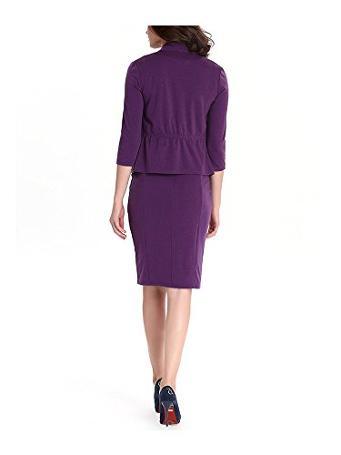 Damen Kleid 3/4-Arm Sexy Business Arbeitskleid Purple