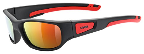 Uvex Kinder Sportstyle 506 Sportbrille, Black mat red, One Size