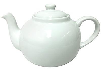 Théière Anglaise 2,5l–Porcelaine Théière XXL–Blanc