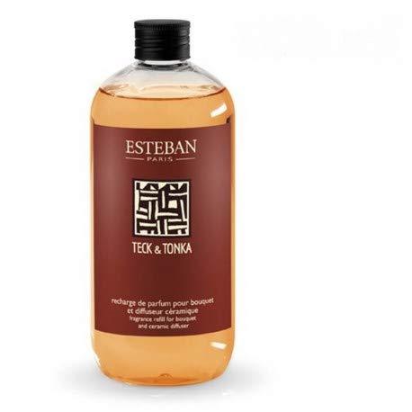 Recharge pour bouquet parfumé 500ml Teck et Tonka - Esteban