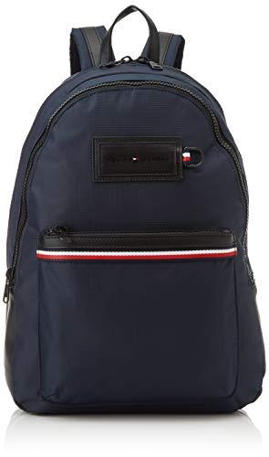 Tommy Hilfiger - Modern Nylon Backpack, Shoppers y bolsos de hombro Hombre, Multicolor Sky Captain...