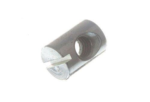 Spannmutter für Möbel Schraube mit Schlitz M6 x 14mm lang ZP (4er Pack)