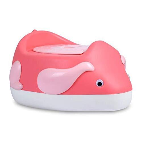 Kindertoilette Kinder WC Sitz Baby Kleinkind Trainer Töpfchen WC-Sit Anti-Rutsch-Funktion,Pink