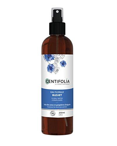 CENTIFOLIA - Eau florale de Bleuet - Soin apaisant pour les Yeux et les Paupières - Convient également aux yeux sensibles - Dégonfle et Allège - Bio Certifiè - 200 ml
