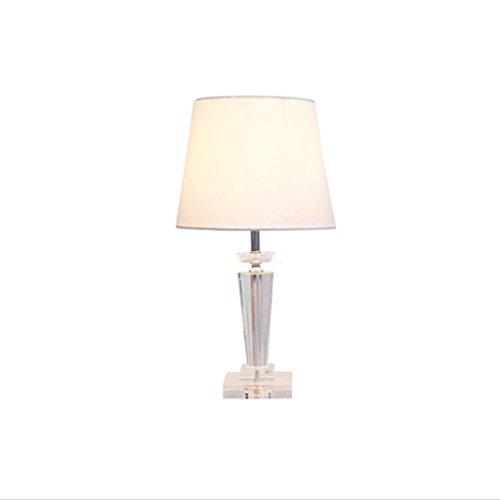 LEGELY Hochzeit Kristall Tischlampen, kreative Mode europäischen modernen minimalistischen Stil Lampe, Wohnzimmer Restaurant Studie Zimmer Schlafzimmer Nachttisch dekorative Tischlampe, E27, weiß (Messing-papier-tischleuchte)