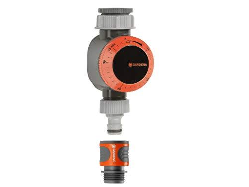 Gardena 31169 Mechanischer Wassertimer mit Durchflussregelung, braun/A - Mechanische Wasser Timer