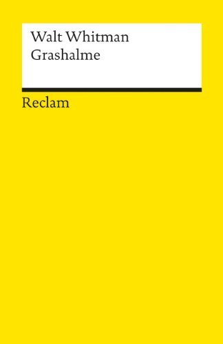 Grashalme von Walt Whitman (1986) Taschenbuch -