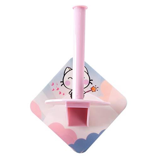 HDOUBR Fügen Sie freie Lochung Papierrollenhalter Toilettenpapierhalter kreative Küche vertikale Papierhandtuchhalter Papierhandtuchrohrregal Regal rot (Vertikale Lochung)