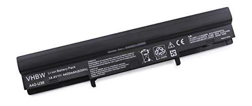 vhbw Batterie LI-ION 4400mAh Noire pour ASUS 36JC, U32, U32J, U32JC, U32U, U36, U36J etc, remplace 4INR18/65, 4INR18/65-2, A41-U36, A42-U36