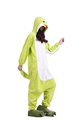 Imagen de yuwell onesie pijamas unisex cosplay animales kigurumi traje disfraz pyjamas halloween, serpiente verde l height 170 180cm