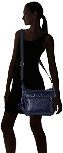 Kipling Gabbie - Borsa a  Tracolla da donna Blu (Lacquer Indigo)