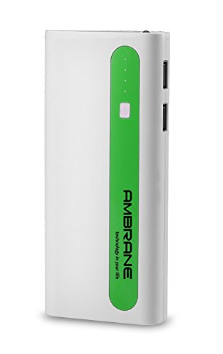 AMBRANE 13000 mAh Power Bank P-1310 White & Green