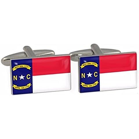 North Carolina State-Gemelli, motivo bandiera americana, in confezione regalo