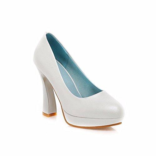 Hohe Spitzen Stöckelschuhen, Pearl Stoff, Flache Wasserdichte Schreibtisch, Schuh Mädchen, Weiß, 34