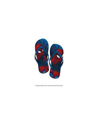 Star Licensing Spiderman Uomo Ragno Ciabattine Infradito Bimbo con Elastico Mare Piscina morbide (25-26)