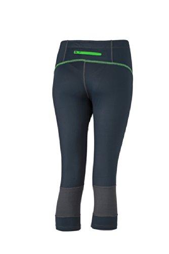 JAMES & NICHOLSON Ladies Running 3/4 Tights - Pantalon de Maternité - Femme Vert (Iron Grey/Green)