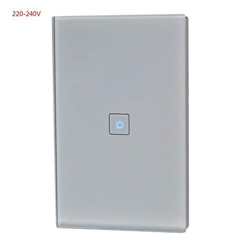 Smart-Wifi-Schalttafel in zwei Richtungen zugelassener Smart-WiFi-Lichtlüfter oder Dimmer mit Schreibtischlampe Google-Startseite Alexa Cont - Grau - Zwei-Wege-Fernbedienung -