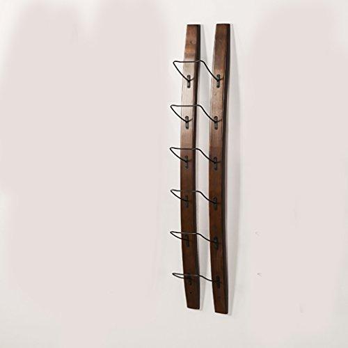 HT BEI Massivholz Nussbaum Farbe Wandbehang Einfache Moderne Holzmaserung Klar Stark und Stabil Faltbar Platzsparend Haltbar Einfaches Design Hängender Becher Rotwein zu Setzen | (Moderne Nussbaum-schrank)