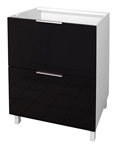 berlenus-ct6bn-meuble-bas-de-cuisine-avec-2-tiroirs-noir-haute-brillance-60-cm