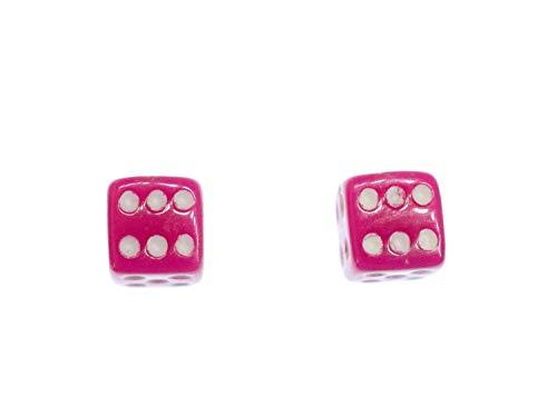 Dados pendientes pendientes Miniblings Casino jugar a Pink 3D