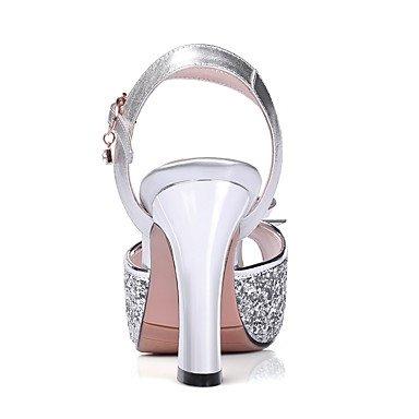 LvYuan Da donna-Sandali-Matrimonio Serata e festa Formale-Club Shoes-Quadrato-Sintetico Pelle-Viola Argento Dorato Gold