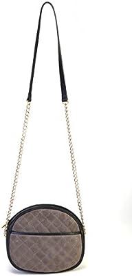 Bolso negro mujer 100% piel,hecho en Ubrique/Black & grey bag 100% leather handmade in Spain,