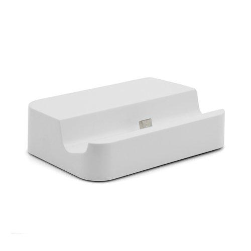 System-S Universal Micro USB Cradle Dock laden & Sync Dockingstation Ladegerät Tischladestation Tischlader Weiß für Smartphone Handy Sync Cradle Dock
