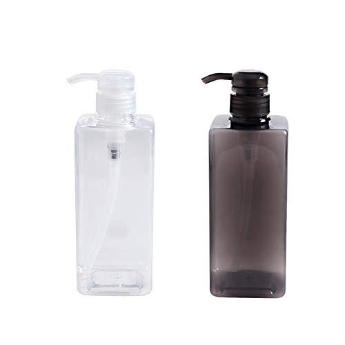 Lotion-spender-flasche (Bad Kunststoff Seifenspender Minimalist Pressed-on Cleanser Spender Seifenspender Duschgel Sub-Flasche Lotion Seifenspender 2Set 600ml)